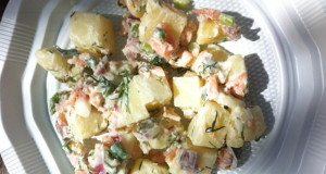 Potato salad and salmon