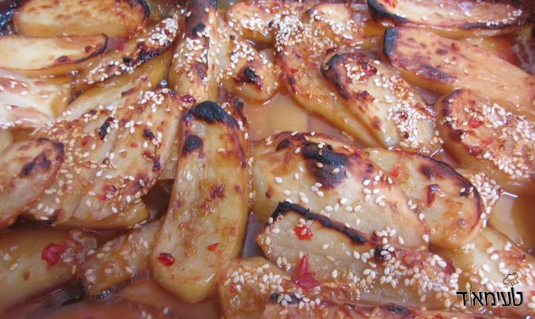 תפוחי אדמה בצ'ילי מתוק וסילאן